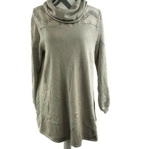 Style & Co  XL Cowl Neck Tunic Sweater Lace